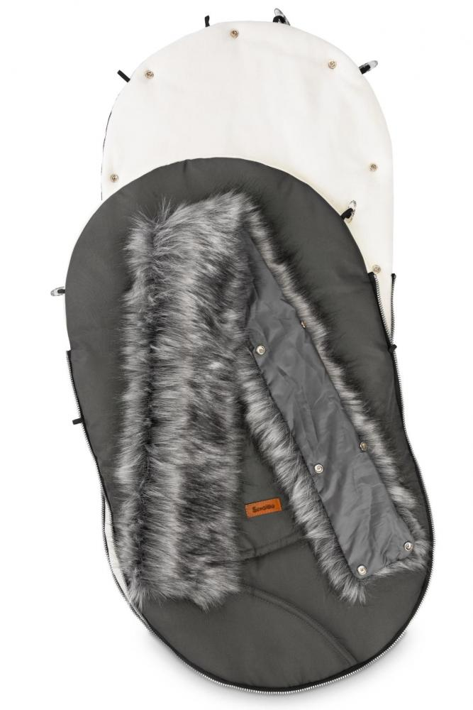 Sac de iarna Sensillo Eskimo Polar 100x46 cm Grafit imagine