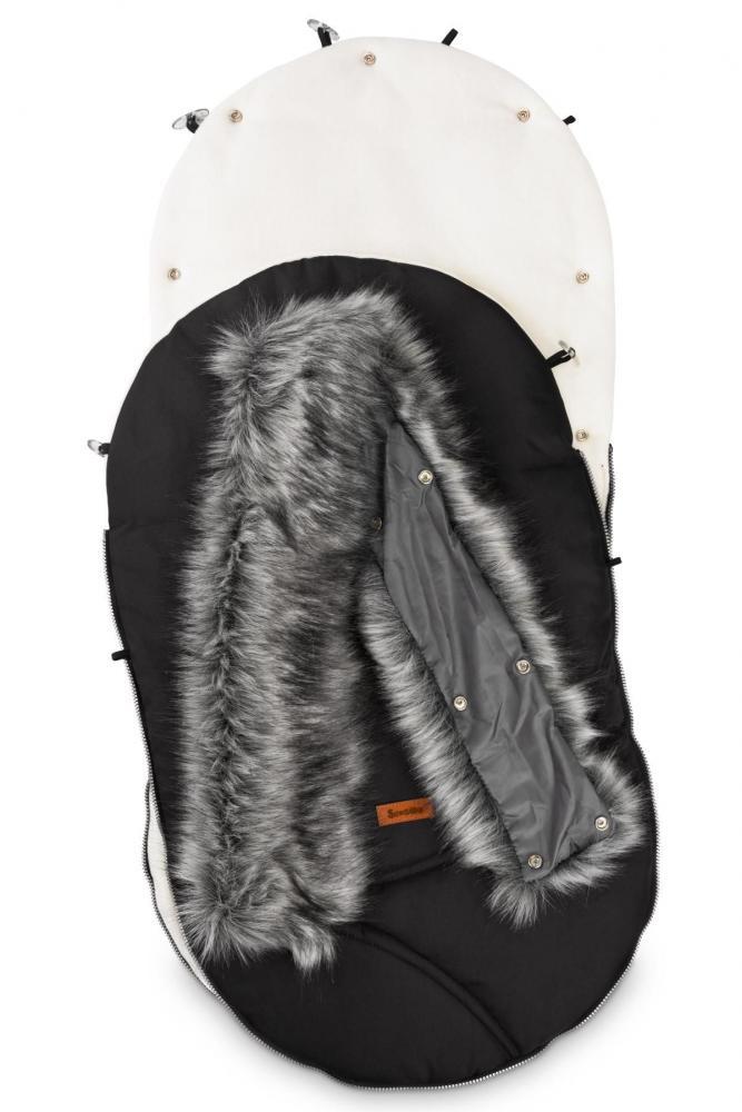 Sac de iarna Sensillo Eskimo Polar 100x46 cm Negru