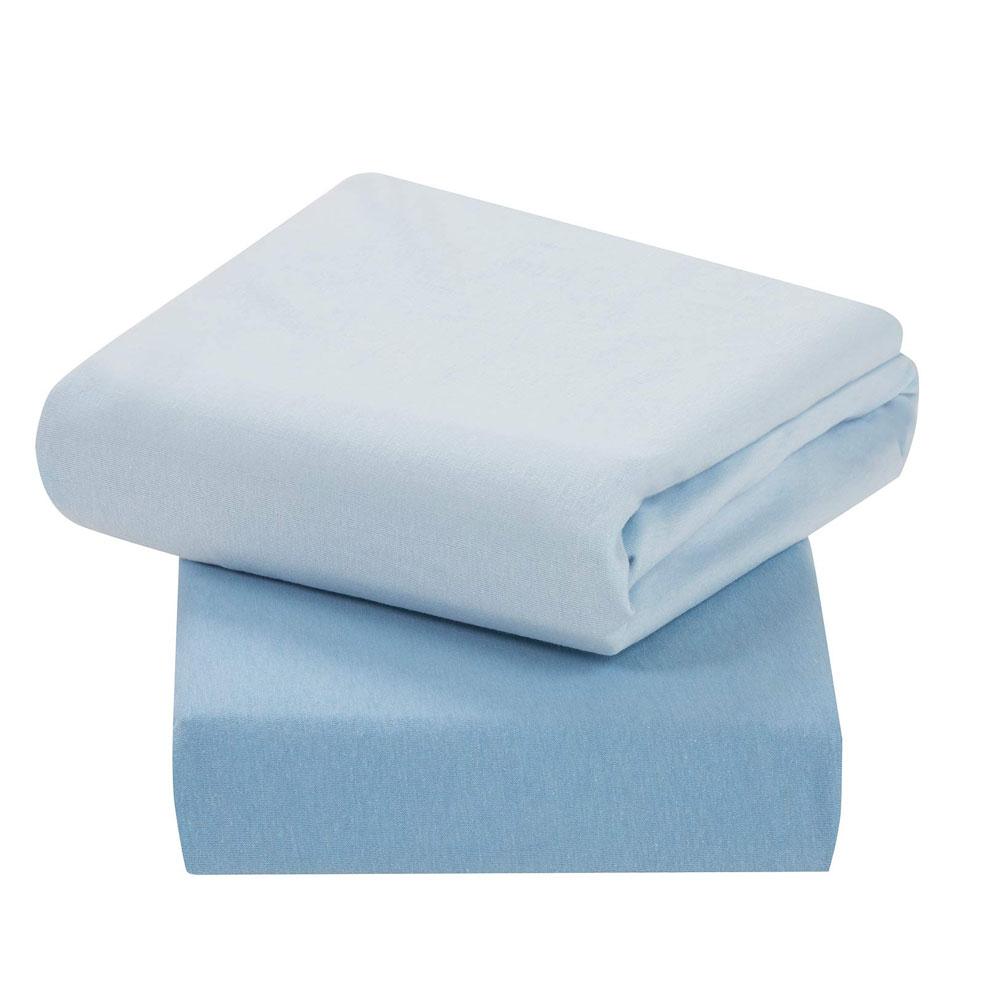 Set cearceaf cu elastic 140 cm x 70 cm Clevamama blue