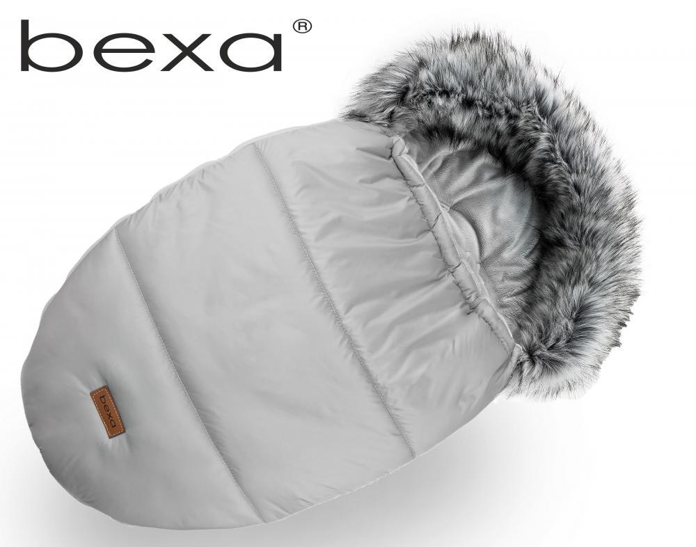 Set cu sac de dormit si manusi pentru carucior Bexa cu blanita si interior fleece gri
