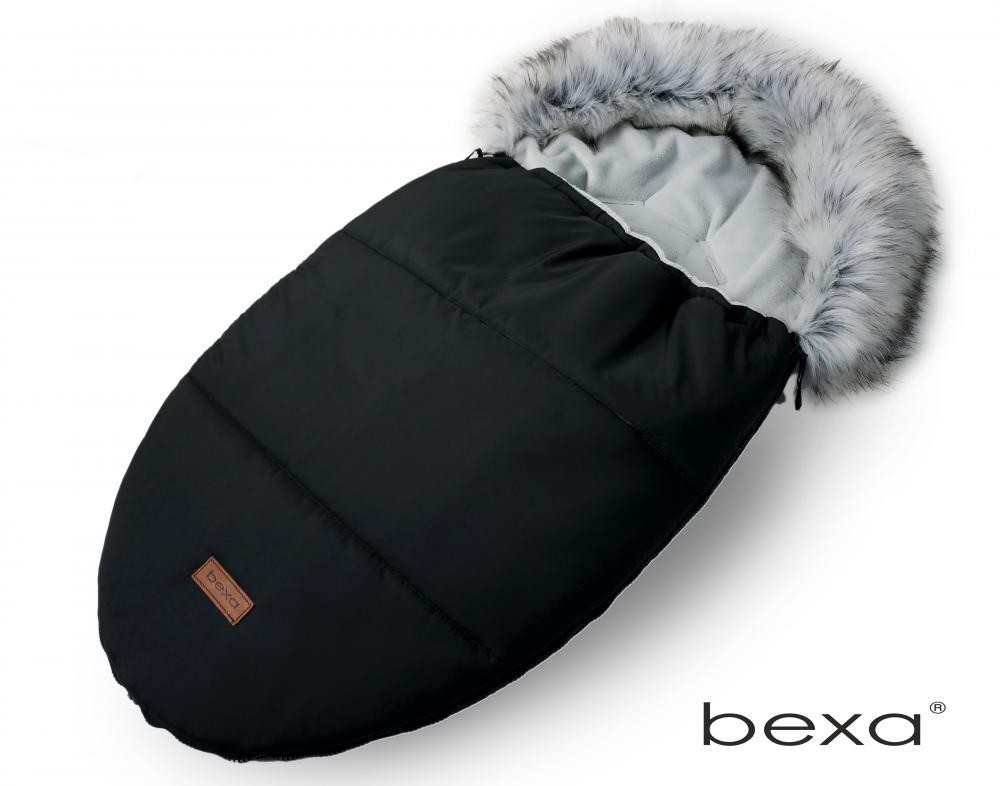 Set cu sac de dormit si manusi pentru carucior Bexa cu blanita si interior fleece negru