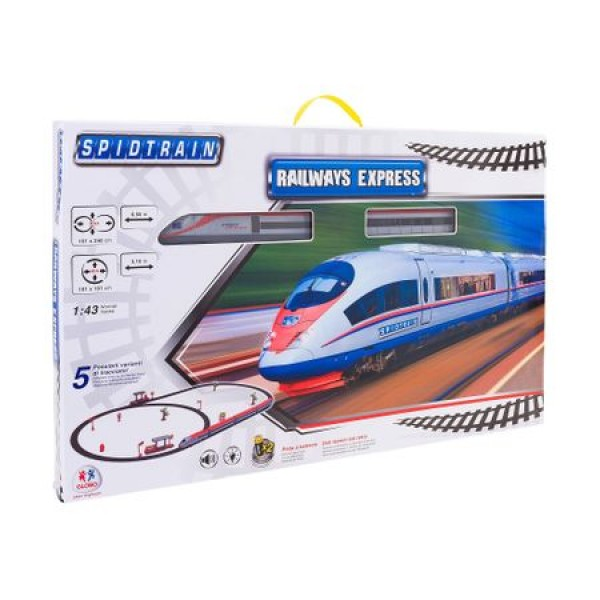 Trenulet electric copii Globo cu pista 50 piese