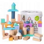 Cuburi din lemn Ecotoys 100 piese