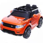 Masinuta electrica cu roti din cauciuc Thunder Eva Orange