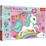 Puzzle Trefl Unicornul Curcubeu 24 piese maxi