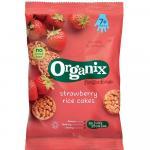 Rondele din orez expandat Bio Organix FingerFoods cu Capsuni 50 g de la 7 luni