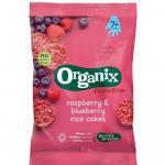 Rondele din orez expandat Bio Organix FingerFoods cu Zmeura si Afine 50 g de la 7 luni