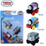 Set 3 locomotive Pop Art Thomas, Rosie Clasic, Autobuzul Bertie camuflat Thomas & Friends Minis