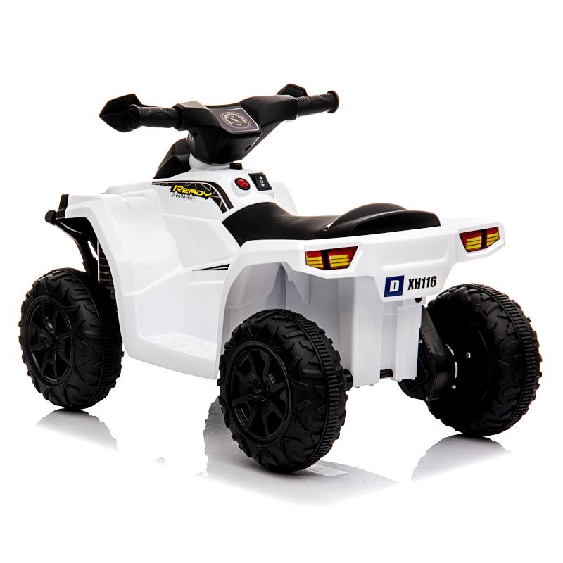 ATV electric cu roti din cauciuc Nichiduta X Racer 6V White
