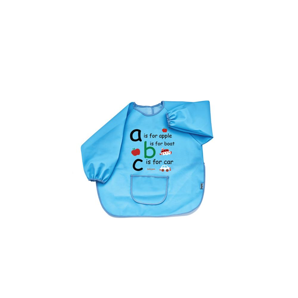 Baveta cu maneci BabyJem ABC Blue din categoria Alimentatie de la BabyJem