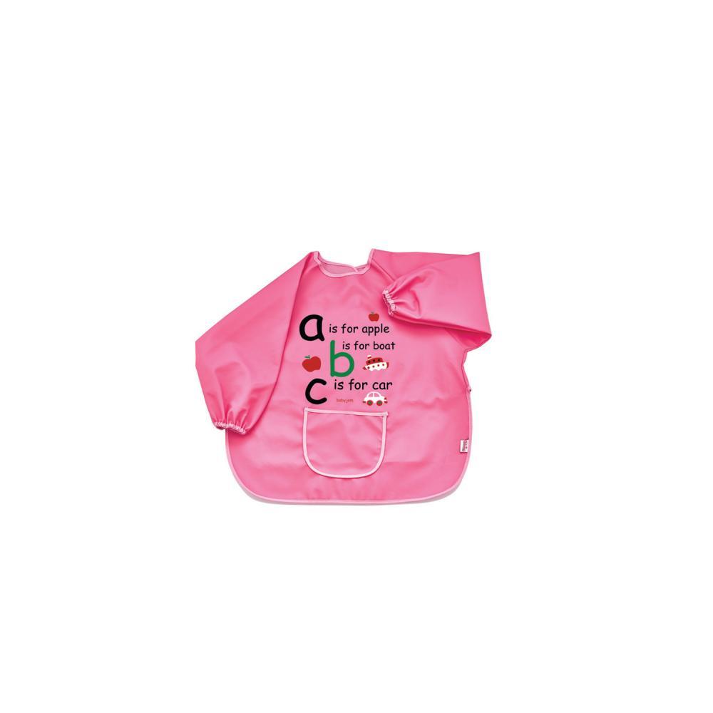 Baveta cu maneci BabyJem ABC Pink din categoria Alimentatie de la BabyJem