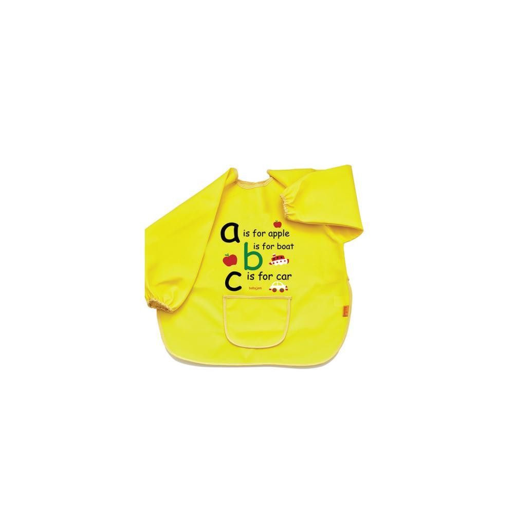 Baveta cu maneci BabyJem ABC Yellow din categoria Alimentatie de la BabyJem