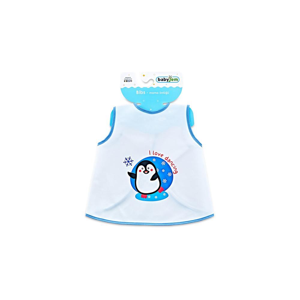 Baveta Pentru Copii Babyjem Pinguin Blue