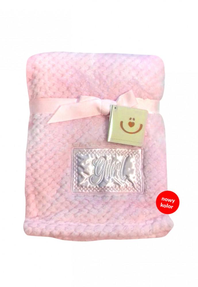Paturica plus Cute Baby 76x102 cm Girl pink