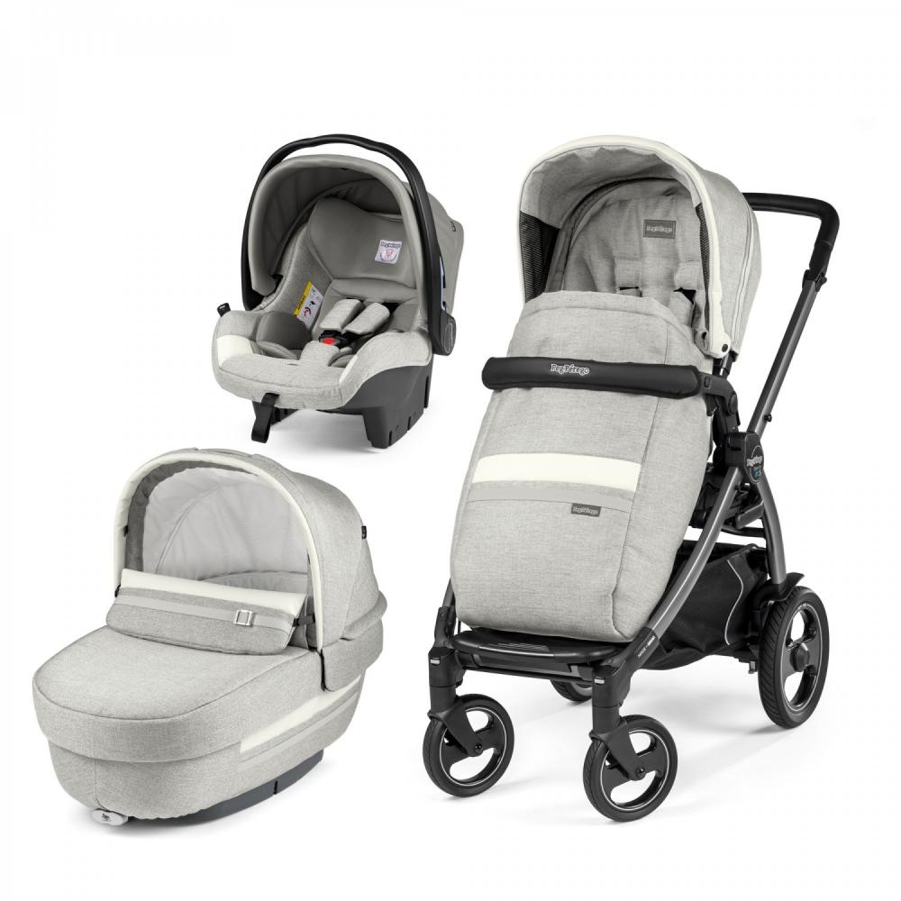 Carucior 3 in 1 Peg Perego Book Plus 51 S Titania Luxe Pure
