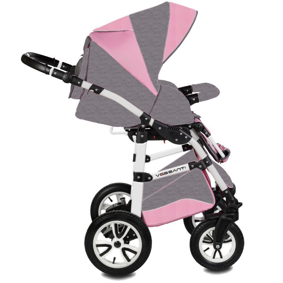 Carucior Flamingo 3 in 1 Easy Drive Vessanti GrayPink