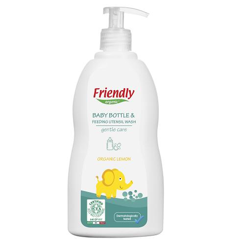 Detergent lichid de vase cu ulei organic de lamie 500 ml, Friendly Organic imagine