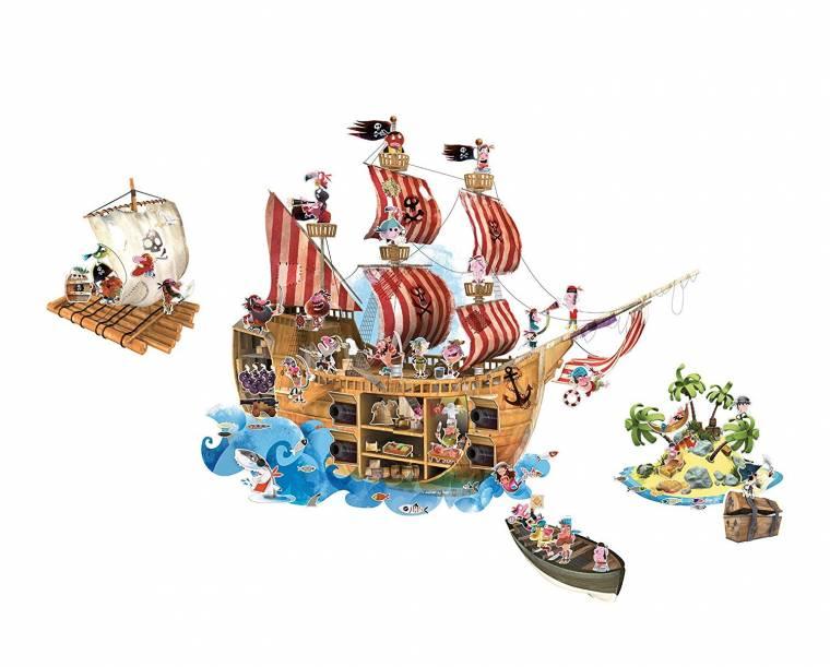 Stickere de perete magnetice cu pirati Janod din categoria Camera copilului de la Janod