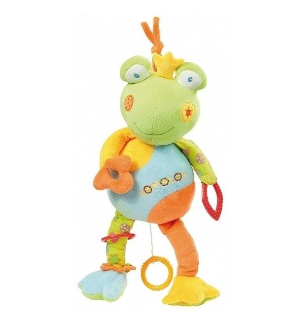 Jucarie muzicala Broscuta Brevi Soft Toys