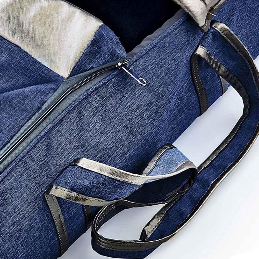 Landou textil cu baza intarita BabyJem Denim Blue