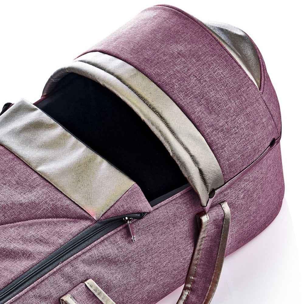 Landou textil cu baza intarita BabyJem Denim Pink