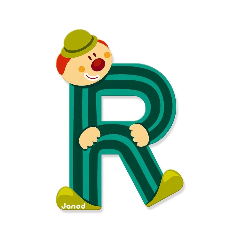 Litera R din lemn imagine