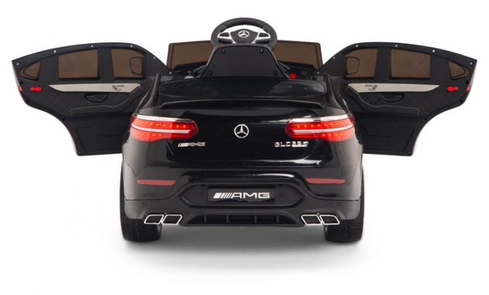 Masinuta electrica Mercedes Benz GLC 63 Negru cu roti din cauciuc