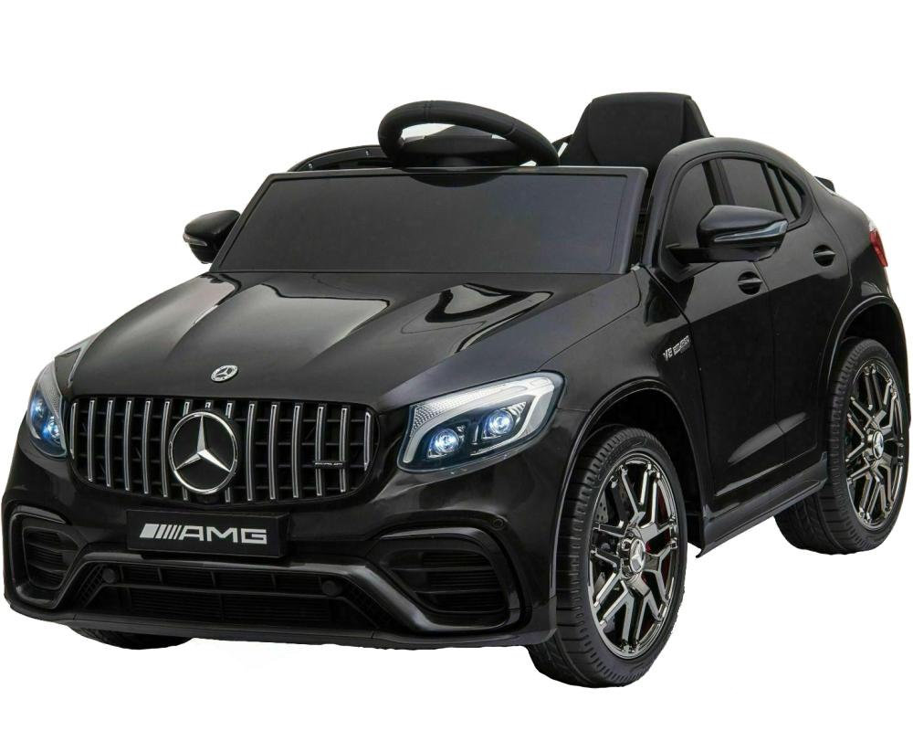 Masinuta electrica Mercedes Benz GLC 63 Negru cu roti din cauciuc - 2