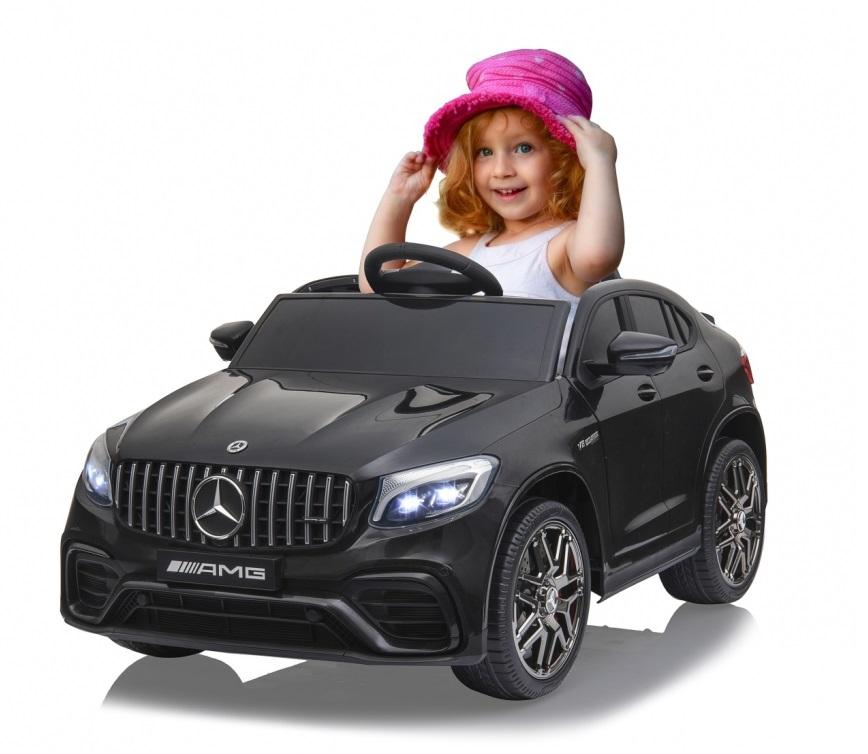 Masinuta electrica Mercedes Benz GLC 63 Negru cu roti din cauciuc - 4