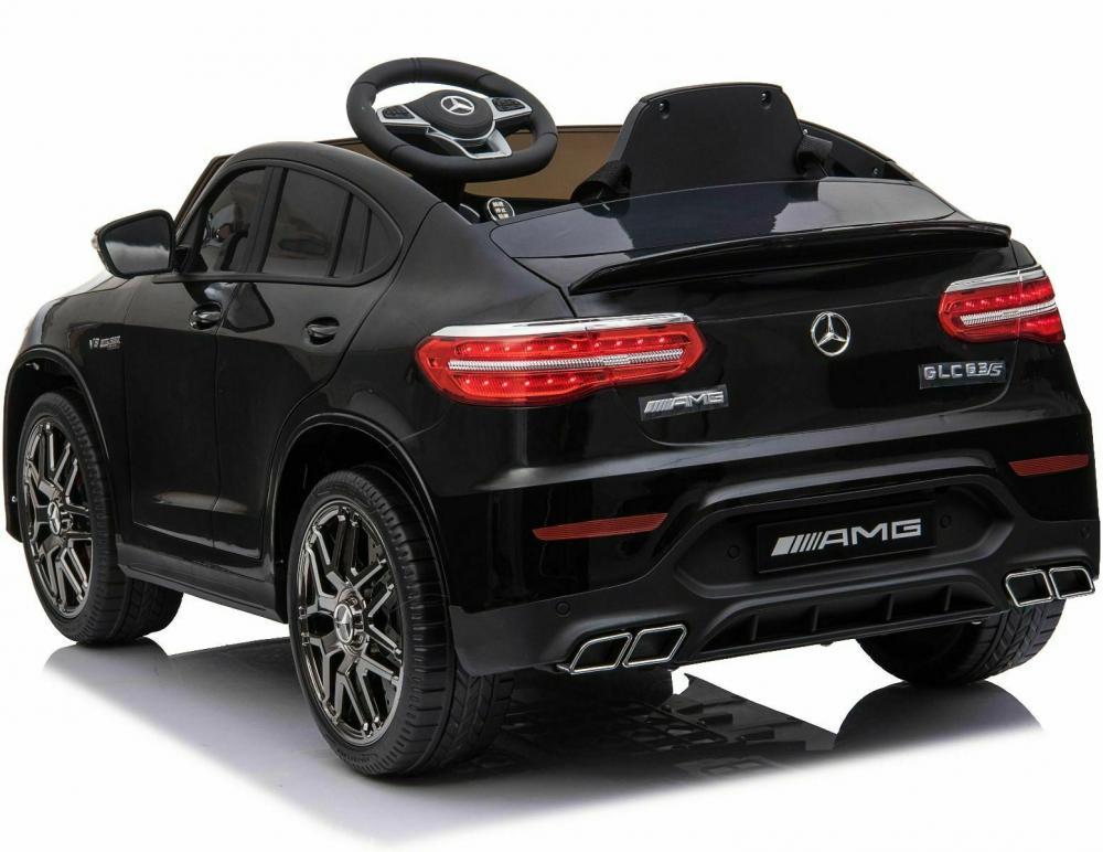Masinuta electrica Mercedes Benz GLC 63 Negru cu roti din cauciuc - 7