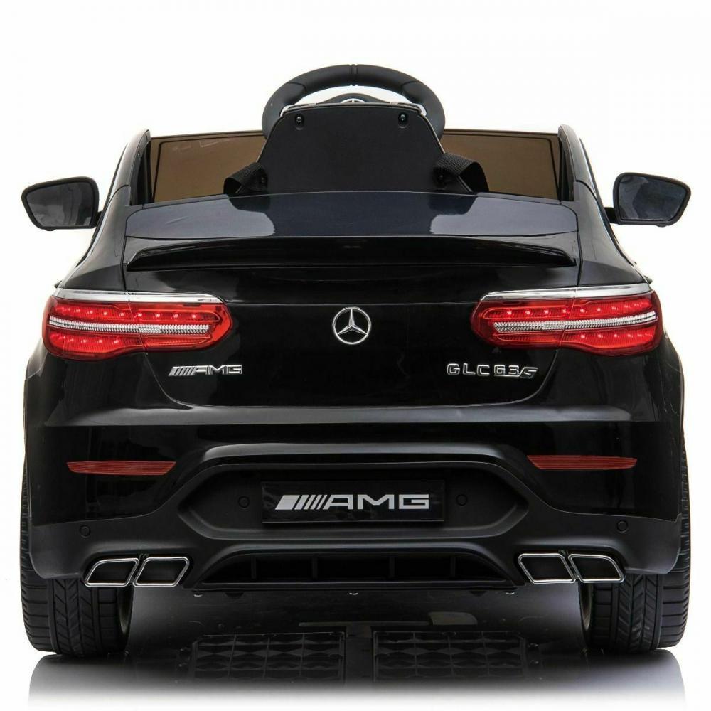 Masinuta electrica Mercedes Benz GLC 63 Negru cu roti din cauciuc - 8
