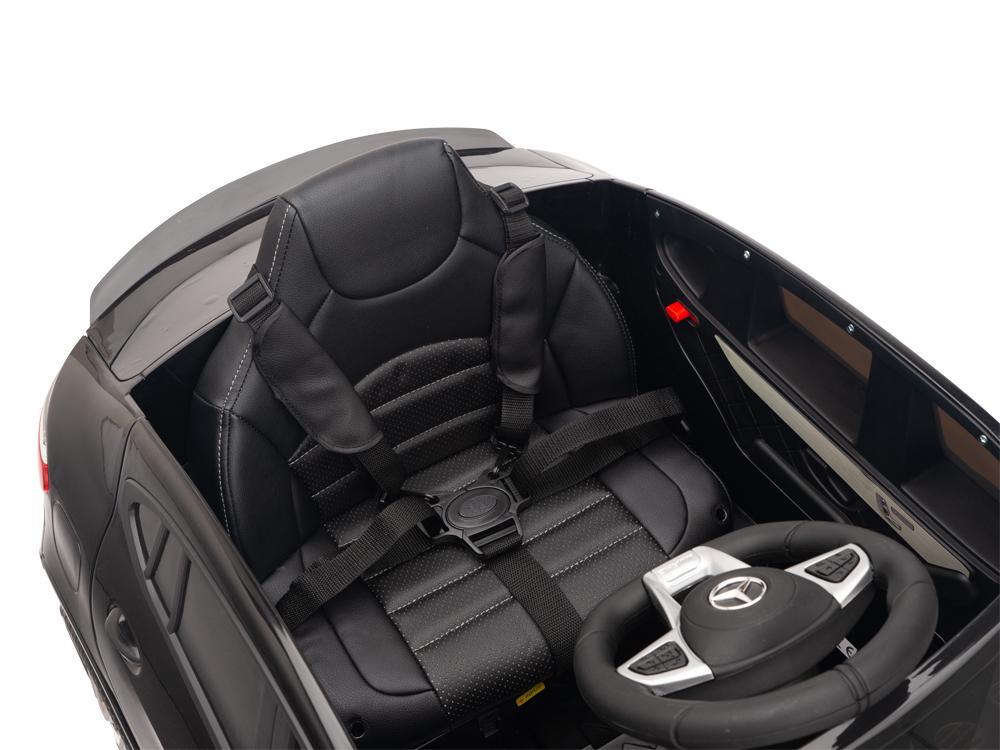 Masinuta electrica Mercedes Benz GLC 63 Negru cu roti din cauciuc - 9