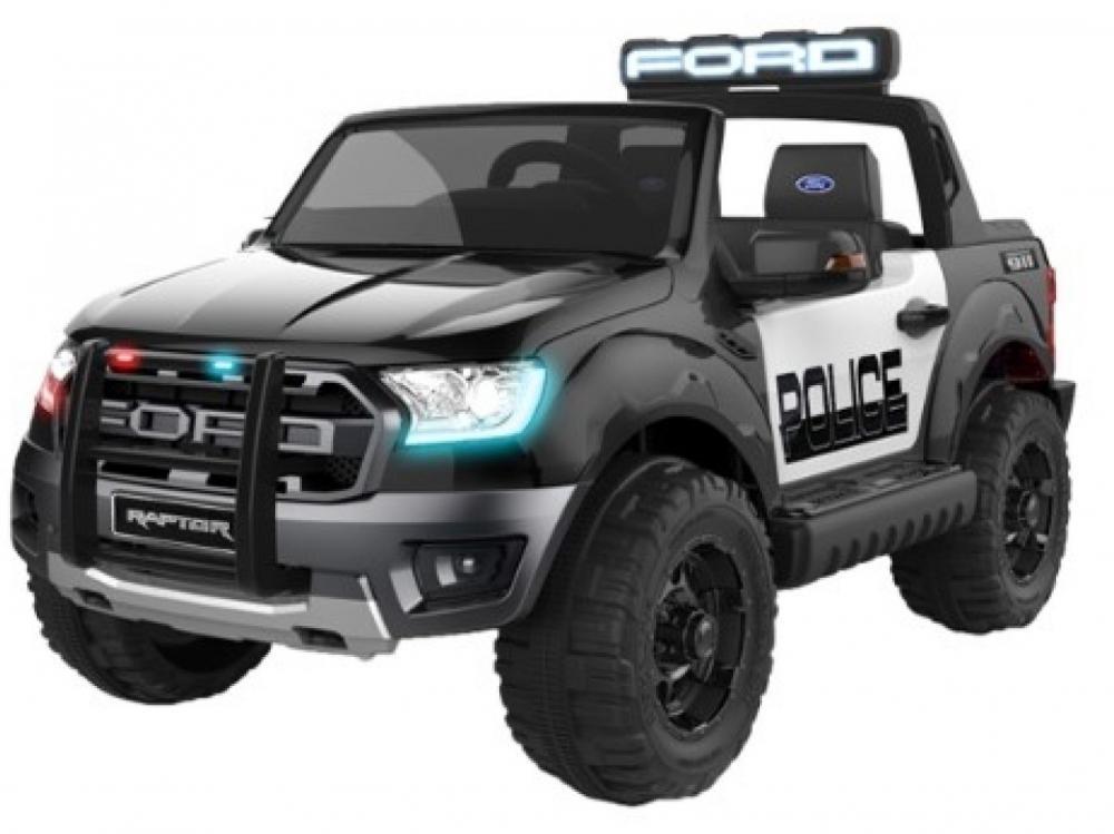 Masinuta electrica cu scaun de piele Ford Ranger Raptor Police