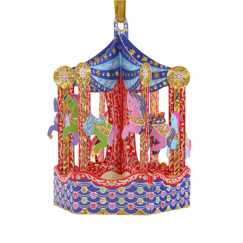 Ornament de brad Craciun Santoro Baubles Carousel imagine