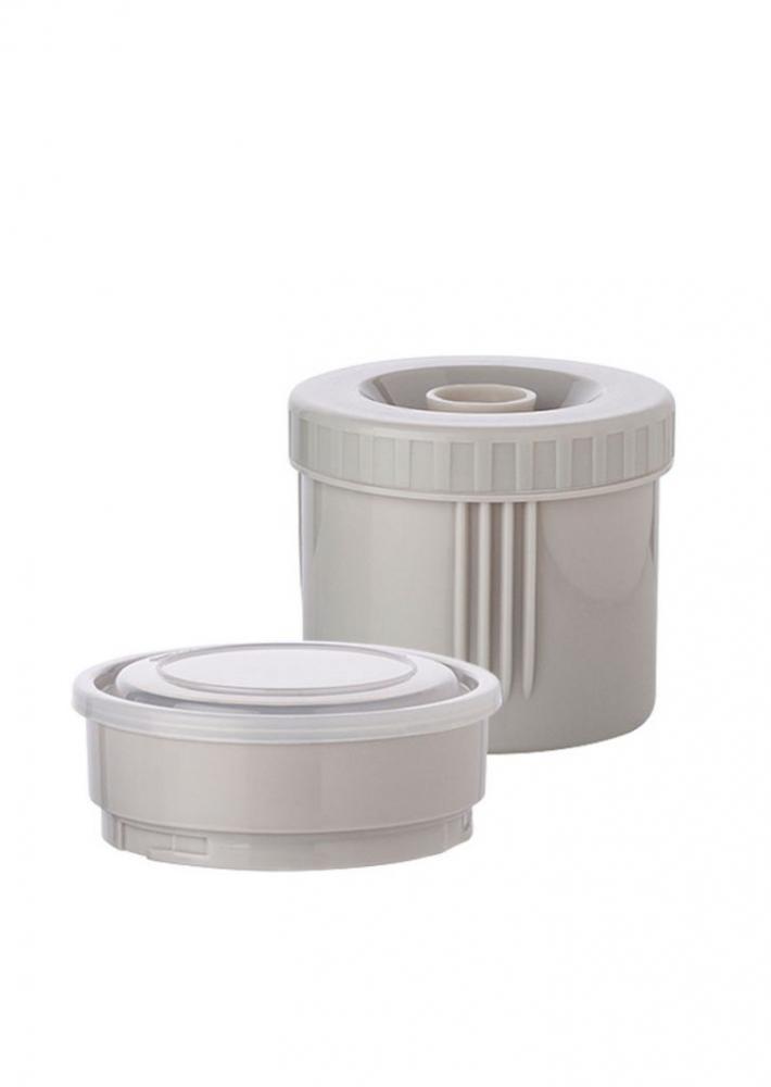 Recipient termic inox pentru hrana cu husa de transport 900 ml mint imagine