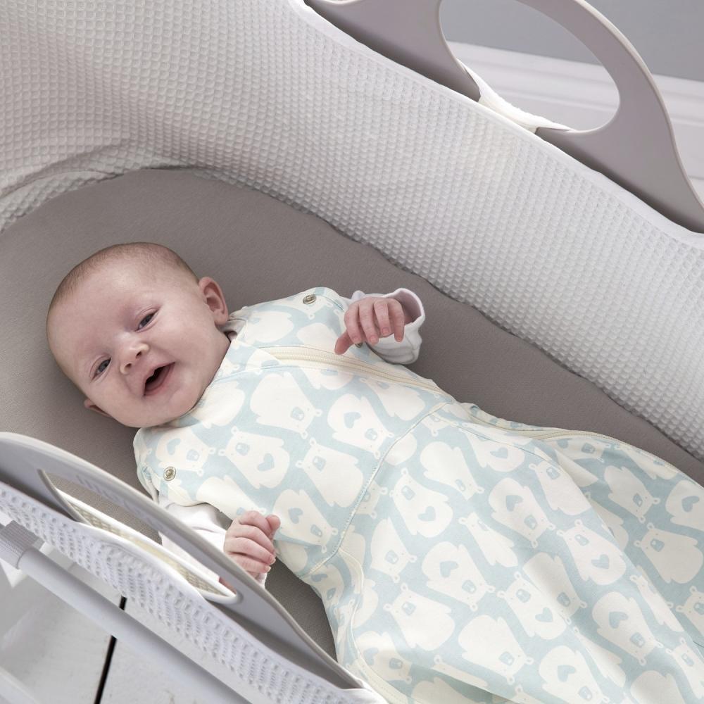 Sac de dormit cu sistem de infasare ursuletul Bennie subtire 0-3 luni Gro