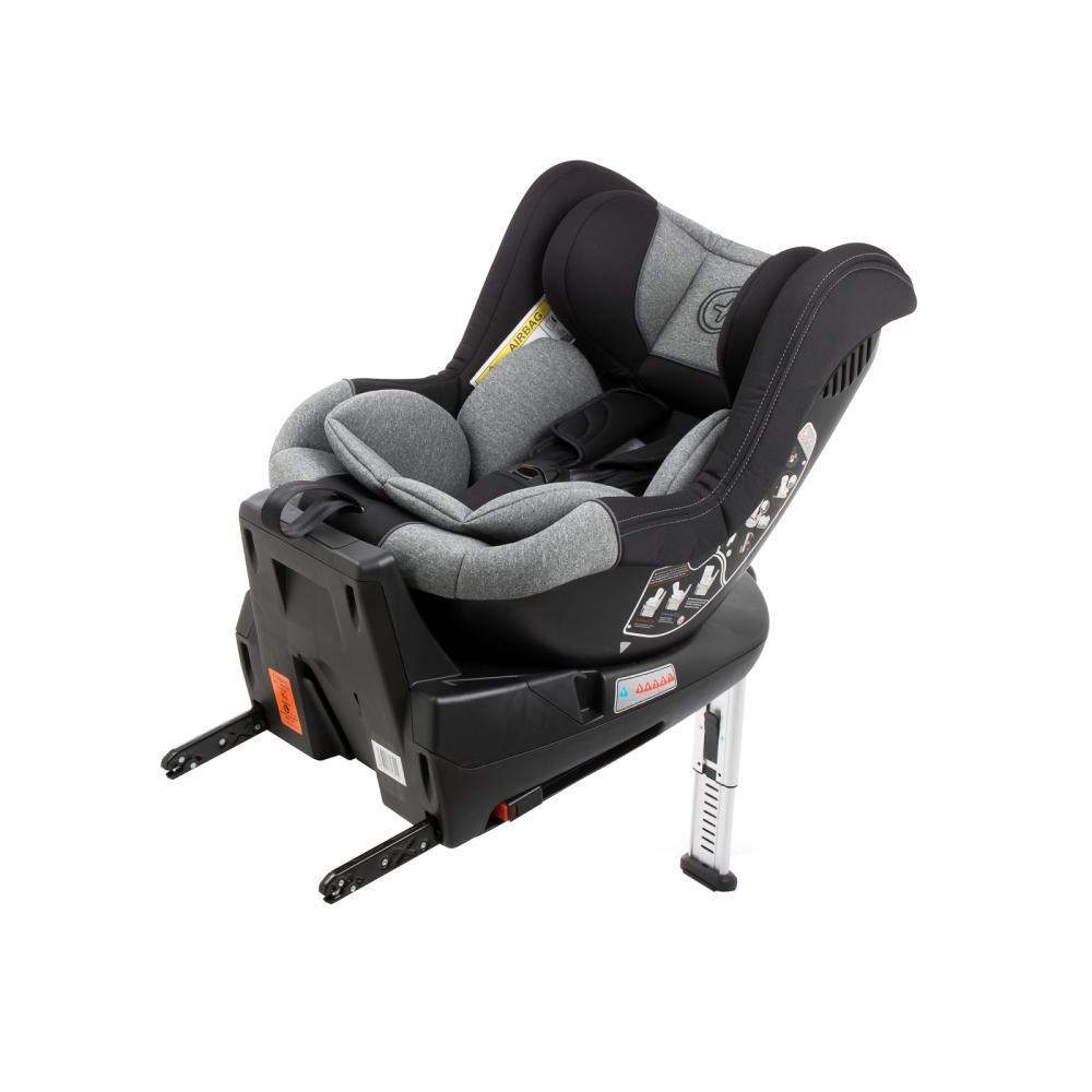 Scaun auto Babyauto Lennox isofix rotatie 360 grade picior suport 0-18 kg negru-gri