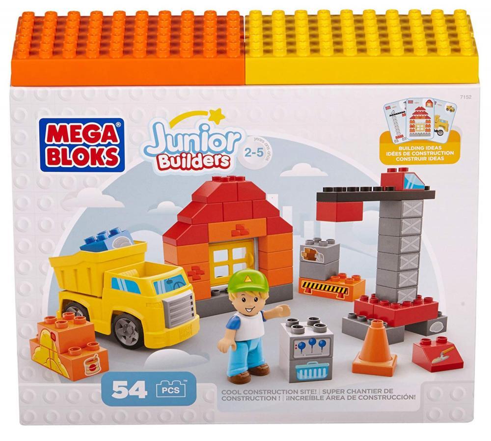 Set de constructie Mega Bloks santier cu camion 54 cuburi