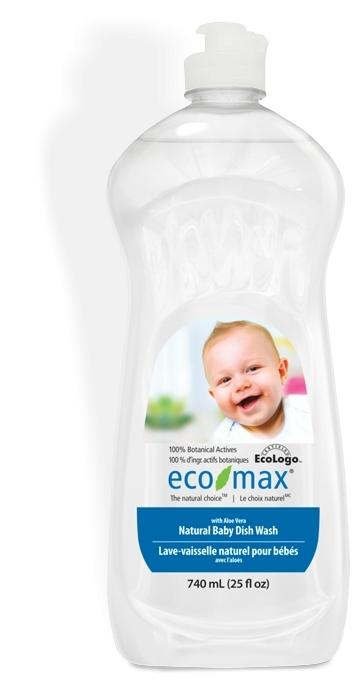 Solutie spalat vase si biberoane cu aloe vera pentru bebelusi Ecomax 740 ml