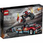 Camion si motocicleta pentru cascadorii Lego
