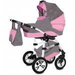 Carucior Flamingo 3 in 1 Easy Drive Vessanti Gray/Pink