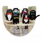 Felicitare 3D PopnRock Pisici cu papioane