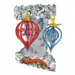 Felicitare 3D Swing Card de iarna Globuri de Craciun