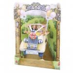 Felicitare 3D Swing Cards Masina de nunta