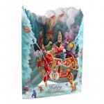 Felicitare 3D Swing Cards de iarna Cu sania lui Mos Craciun