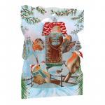 Felicitare 3D Swing Cards de iarna Vrabiile Craciunului