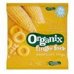 Inele Bio fara gluten cu porumb dulce FingerFoods +7 luni 20 g Organix