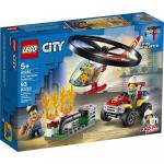 Interventie cu elicopterul de pompieri Lego