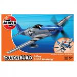 Kit cosntructie Airfix Quick Build Avion D-Day P-51D Mustang