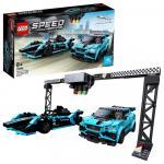 Lego Speed Formula E Panasonic Jaguar Racing gen2 car si Jaguar I-Pace eTrophy